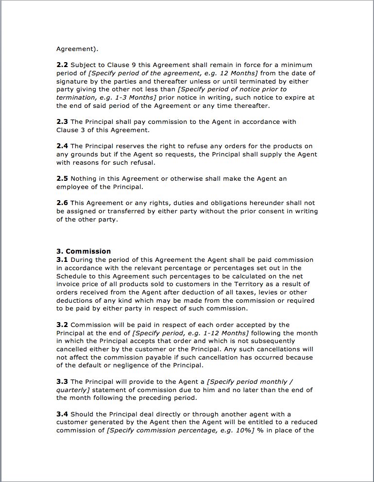 Page 2 Agency Agreement