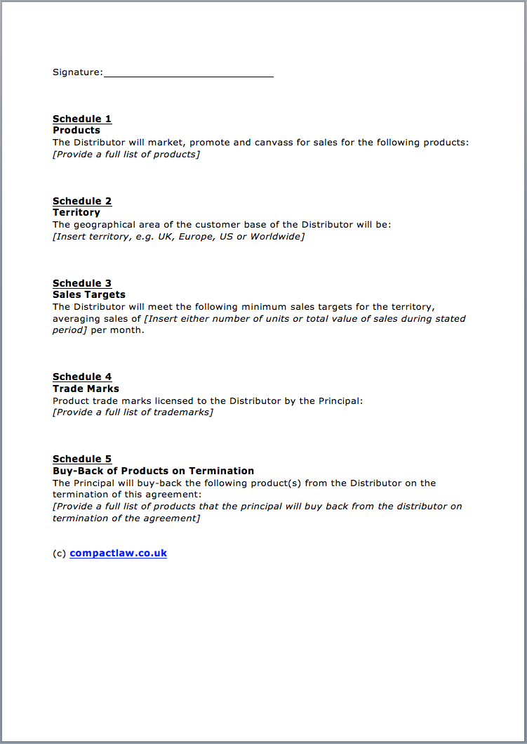 Page 3 Distribution Agreement